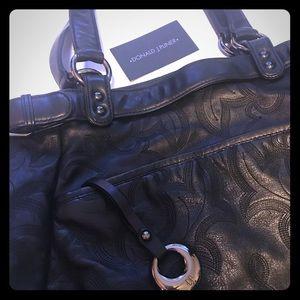 Donald J Pliner large leather handbag